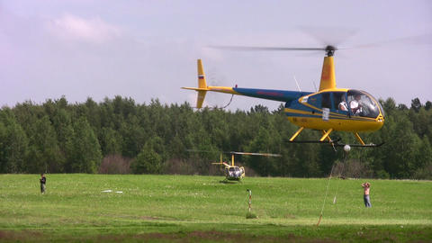 MOSCOW, RUSSIA - JULE 19: The International Competitions On Helicopter Sports The Cup Of KB Mile Ha stock footage