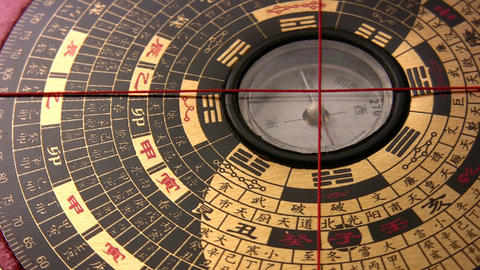 Compass China Rotating stock footage
