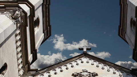 Cross Catholic Church in the sky Footage