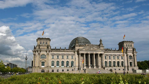 berlin german bundestag with tv tower in 11411 Footage