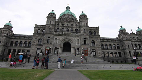 dolly shot - in front Victoria Canada Parliament B Footage