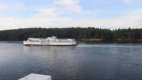 view of bc ferry leaving victoria Footage
