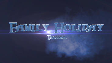Family Holiday Trailer stock footage