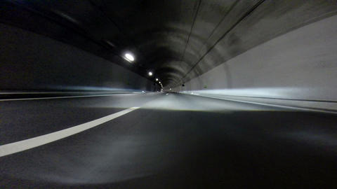 Tunnel at Night - Time Lapse Footage