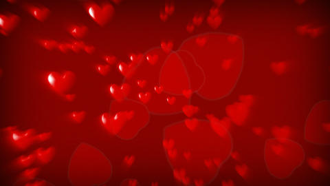CGI Hearts Falling stock footage