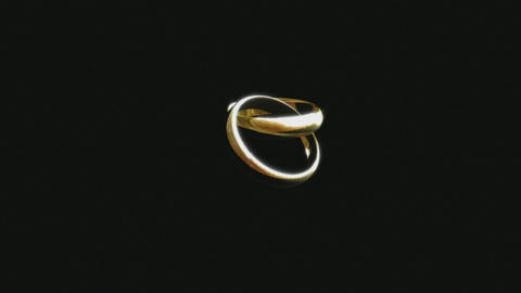 3D Animation Of A Wedding Ring stock footage