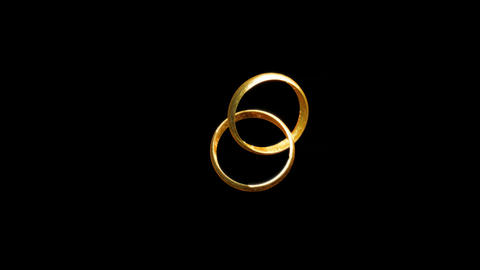 Wedding Rings With Fire stock footage
