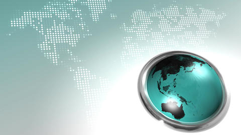 World Map Button HD Loop stock footage