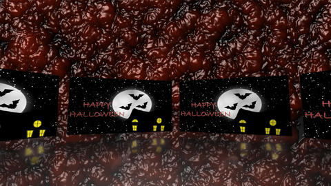 Trick or Treat haunted house - Halloween - Blood Animation