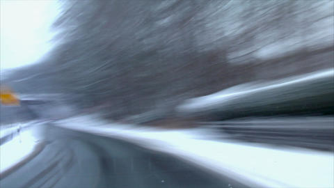 Chaos Winter Drive Time Lapse stock footage