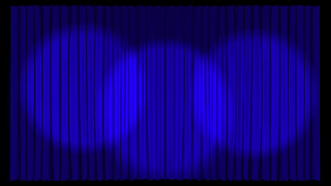 Animated Stage Curtains Footage