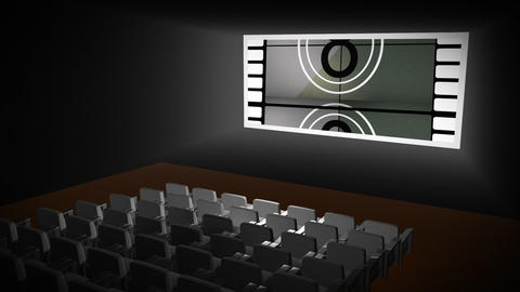 Countdown in a cinema Footage