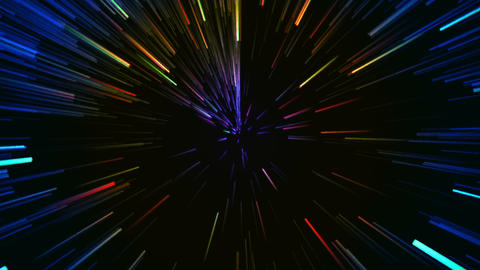 Hyperspace Motion Background stock footage