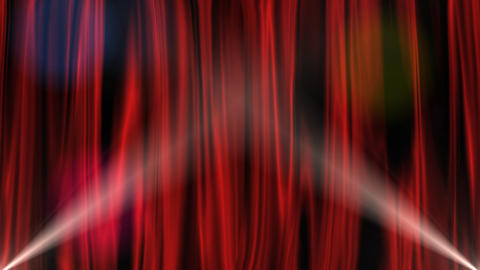 Red Curtain Intro With Alpha Channel stock footage