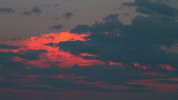 Cloudy Sky On Sunset stock footage