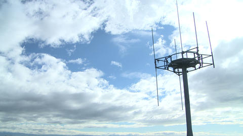 cell tower and clouds timelapse Footage
