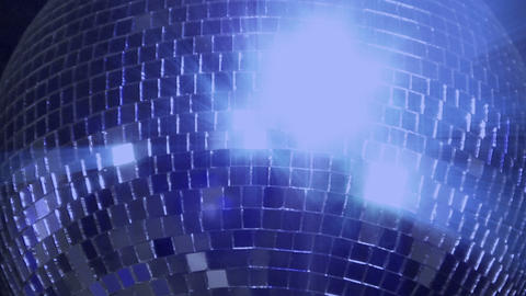 Blue Loop Disco Mirror Ball Series Center Glitter stock footage