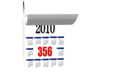 Loopable New Year 2010-2011 Calendar On White Background stock footage