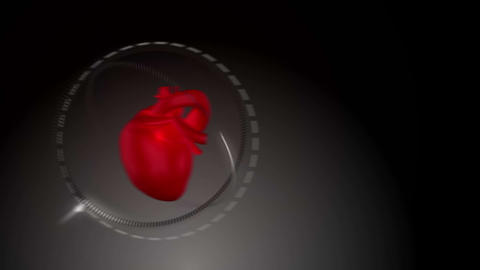 Video Of A Heart Beating Against Black Background stock footage