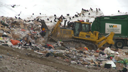 HD2008-12-8-1 Landfill Caterpiller stock footage