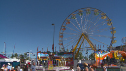 Midway Rides Ferris stock footage