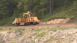 HD2008-6-6-11 rail maintenance tractor Footage