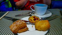 4k UHD Time Lapse Video On Eating Pastries With Co stock footage