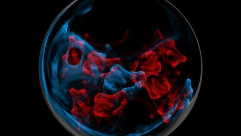 Blue And Red Plasma Explosion stock footage