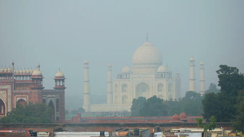 Taj Mahal stock footage