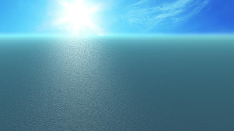 Animation, 500 Metre High Angle Sea View, Sunny Da stock footage