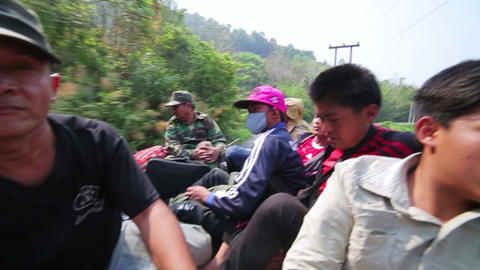 PONGSALI, LAOS - APRIL 2014: passenger journey roo Footage