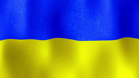Flag of Ukraine Waving, Loopable Footage