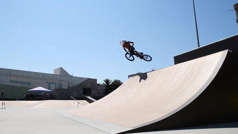 Trainings During The DVS BMX Series 2014 By Fuel T stock footage