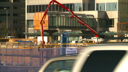 HD2008-10-4-9 Construction Site Concrete Pump stock footage