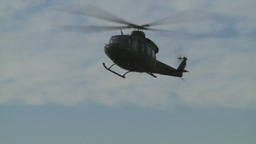 HD2008-10-16-7 Helo Landing Dusty stock footage
