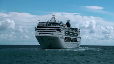 BIG CRUISE SHIP LINER TIMELAPSE stock footage