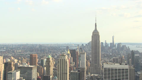 Empire State Building Slow Push In HD Footage