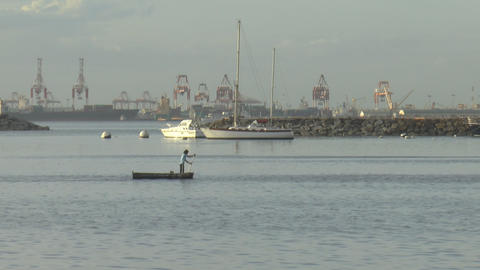 relaxed scene manila bay Footage
