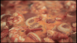 Fish Soup Close Up stock footage