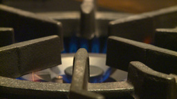 HD2009-1-9-1 Stove Gas Flame stock footage
