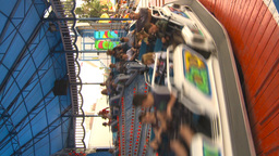 HD2009-7-3-30 Midway Snoexpress Ride Vertical stock footage