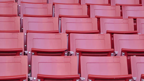 Red Empty Seats In Stadium stock footage