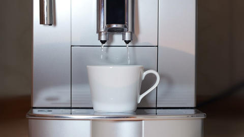 Coffee Maker Pouring Hot Water stock footage
