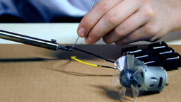 Young Creator Soldering Together Electronics stock footage