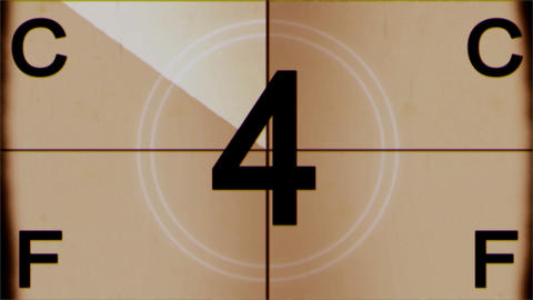 Old Film Countdown stock footage