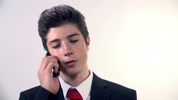 Business Man Talking On The Mobile Phone stock footage