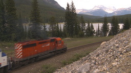 HD2009-6-10-5 passenger train lake mtns Footage