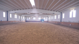 Wide Shot of Olympic Horse Ride in Huge Bright Rid Footage
