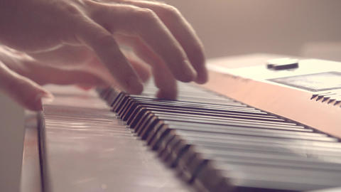 Playing The Piano stock footage