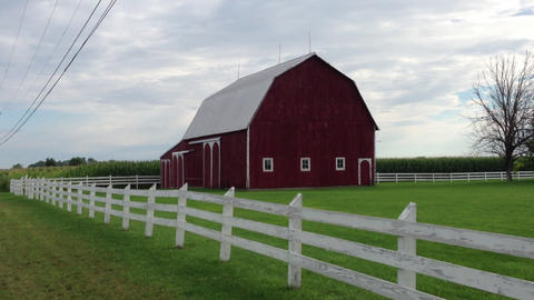 Country Barn stock footage
